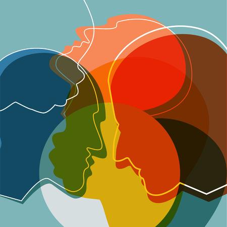Ilustración de People silhouettes, adult and child. Vector ilustration.  - Imagen libre de derechos