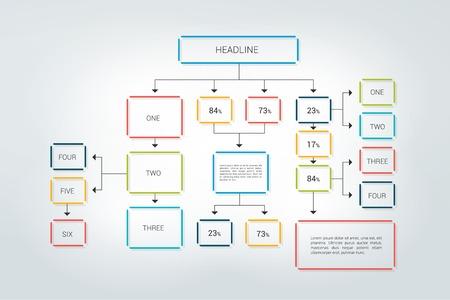 Ilustración de Fowchart, infographic scheme. - Imagen libre de derechos