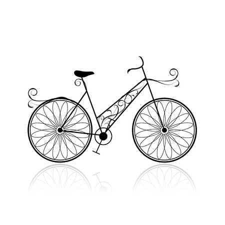 Female bicycle for your design