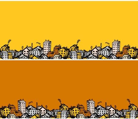 Illustration pour City sketch, seamless background for your design  - image libre de droit