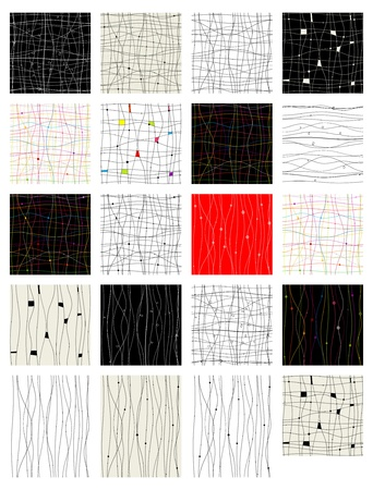 Illustration for Set of abstract seamless pattern for your design - Royalty Free Image