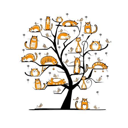 Ilustración de ?at family tree for your design - Imagen libre de derechos