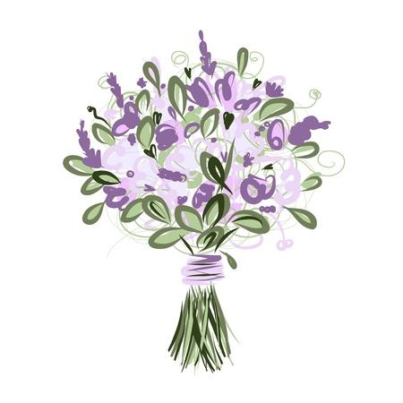Illustration pour Floral bouquet for your design - image libre de droit