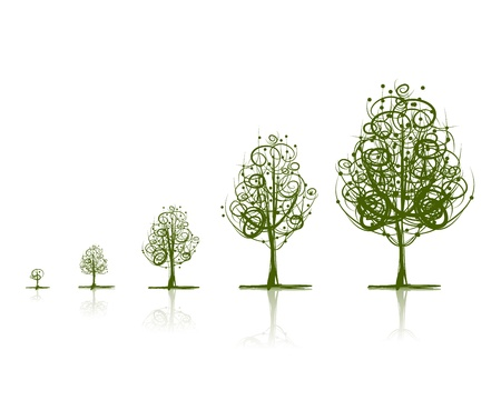 Photo for Stages of growing trees - Royalty Free Image