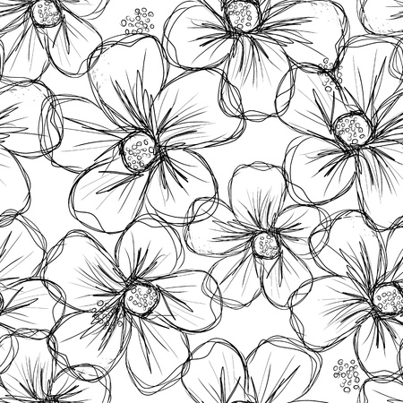 Ilustración de Floral seamless background for your design - Imagen libre de derechos