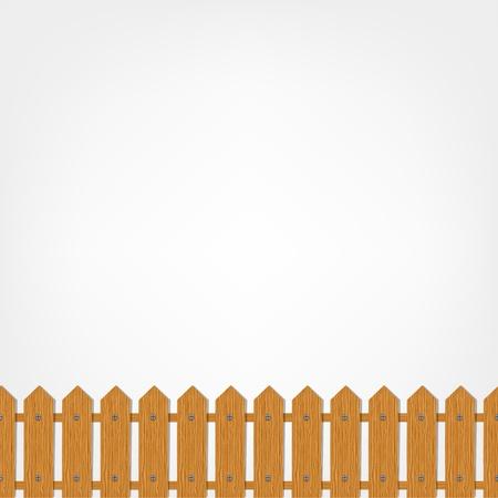 Illustration pour Wooden fence, seamless pattern   - image libre de droit
