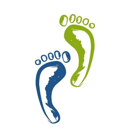 Ilustración de Sketch of footprint for your design - Imagen libre de derechos