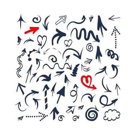 Ilustración de Arrows sketch set for your design - Imagen libre de derechos