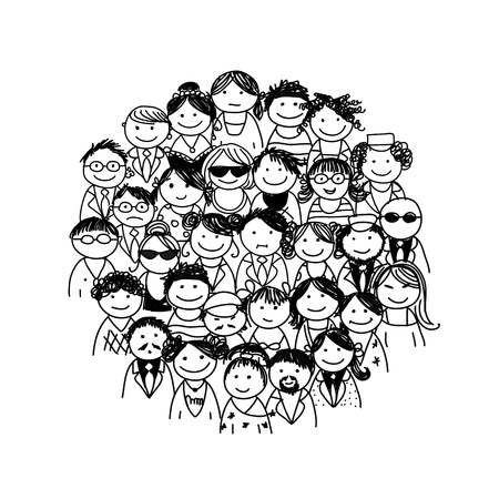 Illustration for Group of people - Royalty Free Image