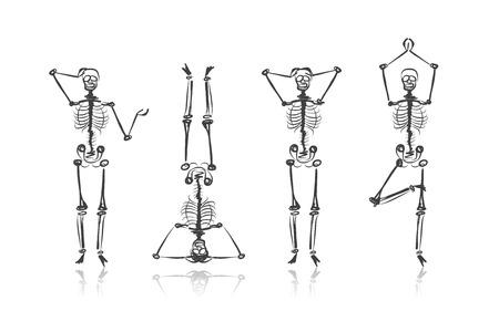 Illustration pour Skeleton sketches for your design - image libre de droit