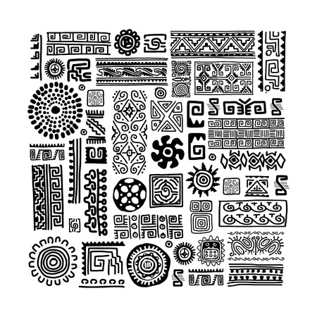 Illustration pour Ethnic handmade ornament for your design - image libre de droit