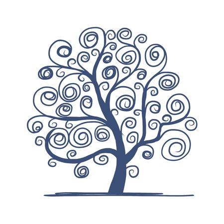 Illustration pour Art tree beautiful for your design - image libre de droit