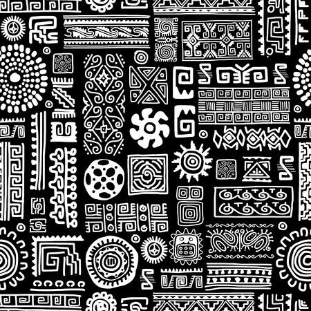 Illustration pour Ethnic handmade ornament, seamless pattern for your design - image libre de droit