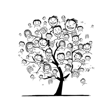 Illustration pour People tree for your design - image libre de droit