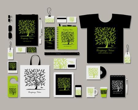 Foto de Corporate flat identity mock-up template for your design. Vector illustration - Imagen libre de derechos