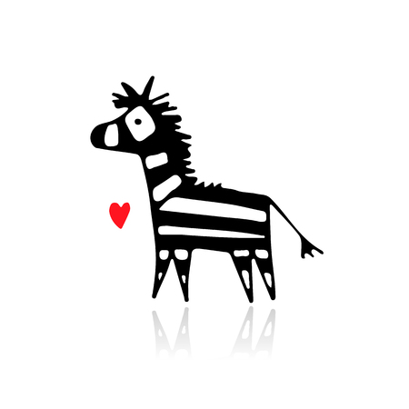 Illustration pour Zebra sketch for your design. - image libre de droit