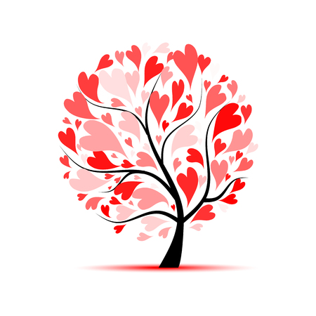 Illustration for Love tree for your design - Royalty Free Image