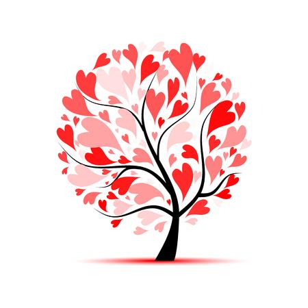Ilustración de Love tree for your design - Imagen libre de derechos