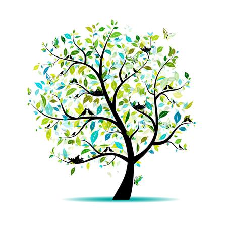 Illustration pour Spring tree for your design - image libre de droit