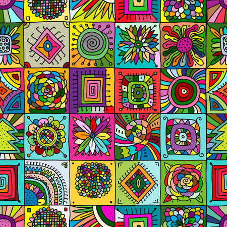Illustration pour Abstract geometric seamless pattern for your design. - image libre de droit