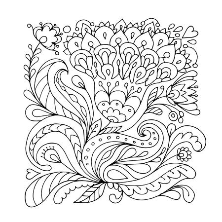 Illustration for Floral ornament, sketch for your design - Royalty Free Image