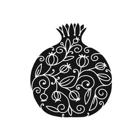 Ilustración de Pomegranate ornate, sketch for your design - Imagen libre de derechos