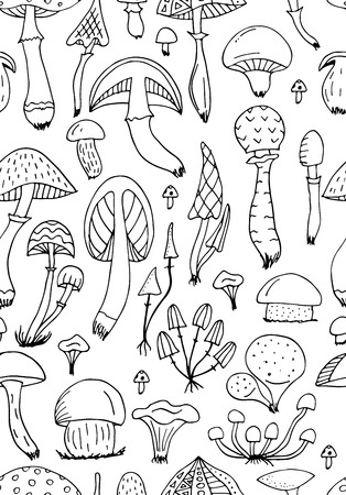 Illustration pour Mushrooms, seamless pattern for your design - image libre de droit