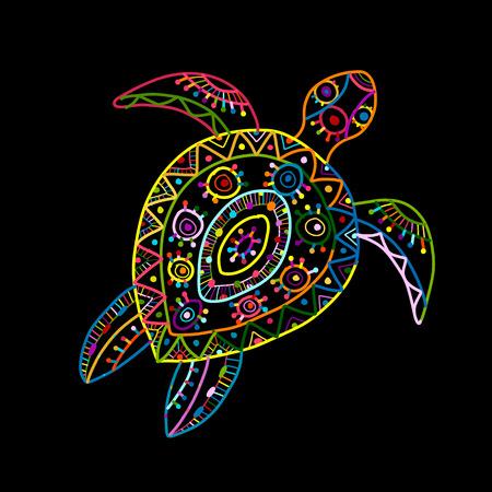 Illustration pour Tortoise ornate design Vector illustration. - image libre de droit