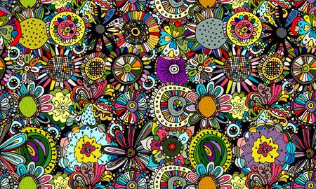 Ilustración de Floral seamless pattern for your design. Vector illustration - Imagen libre de derechos