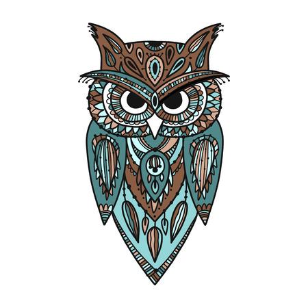 Photo for Ornate owl, zenart for your design - Royalty Free Image