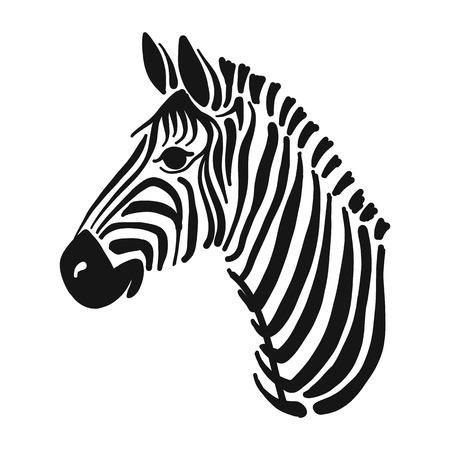 Ilustración de Zebra, sketch for your design - Imagen libre de derechos