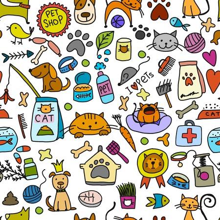 Ilustración de Pet shop background for your design. Vector illustration - Imagen libre de derechos