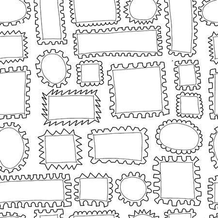Illustration pour Post stamp collection. Vector illustration - image libre de droit