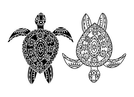 Illustration pour Tortoise ornate for your design. Vector illustration - image libre de droit