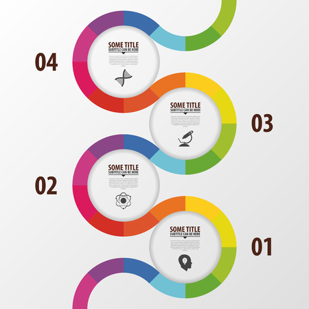 Illustration pour Abstract colorful business path. Timeline infographic template. Vector - image libre de droit
