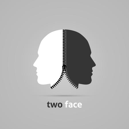 Ilustración de Creative concept with zipper. - Imagen libre de derechos