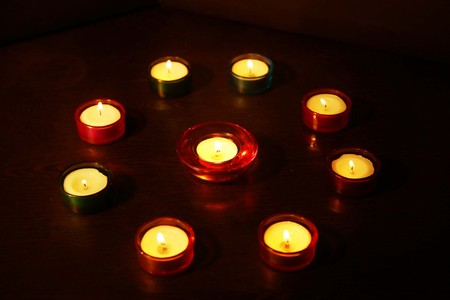 Photo for Picture of candle Light at Diwali Festival. - Royalty Free Image