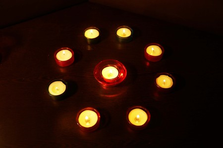 Photo for A group of decorative candle during Diwali festival. - Royalty Free Image