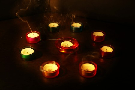 Photo for A group of decorative candle on the Diwali festival for picture. - Royalty Free Image