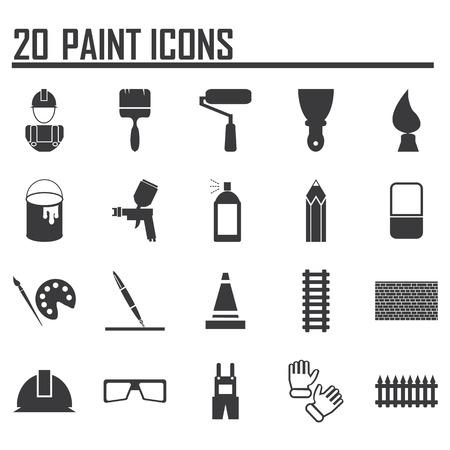 Ilustración de Painting Icons - Imagen libre de derechos