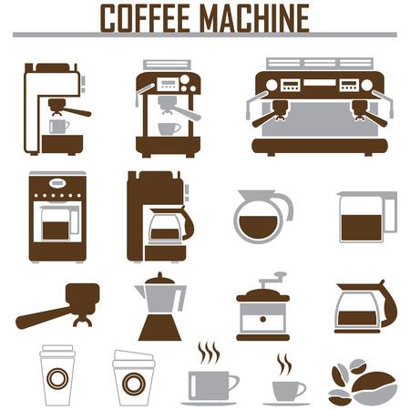 Ilustración de coffee machine icons - Imagen libre de derechos
