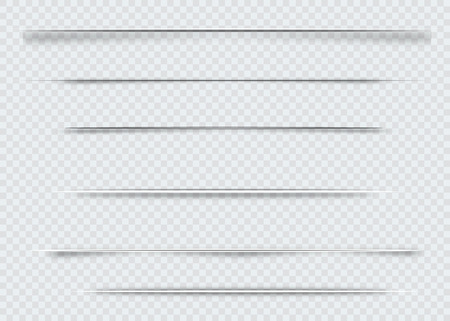 Illustration pour Dividers isolated on transparent background. Shadow dividers. Vector illustration - image libre de droit