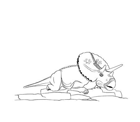Dinosaur Torosaurus.