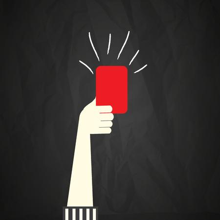 Illustration pour Red card - image libre de droit