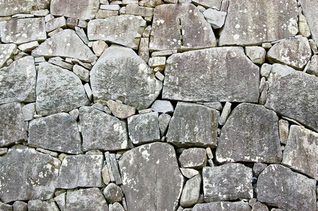 Stone wall in japanese castle
