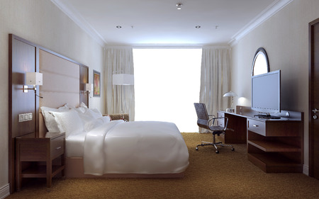 Photo for Bedroom modern style, 3d images - Royalty Free Image
