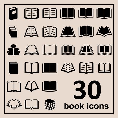 Ilustración de Book icons Library icons Education icons Reading icons Learning icons Book pictogram Knowledge icons - Imagen libre de derechos
