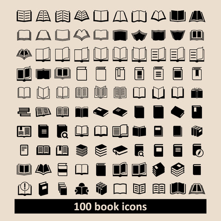Ilustración de Book icons Library icons Education icons Reading icons Learning icons Book pictogram Knowledge icons - Imagen libre de derechos