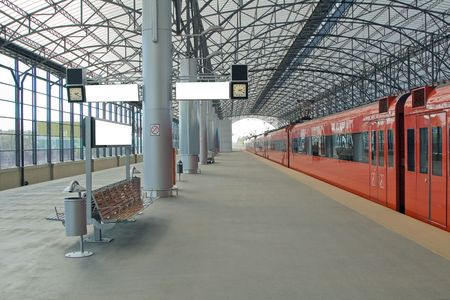 Train station Sheremetyevo, Moscom, Russia
