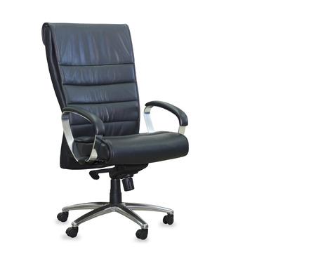 Foto de Modern office chair from black leather. Isolated - Imagen libre de derechos